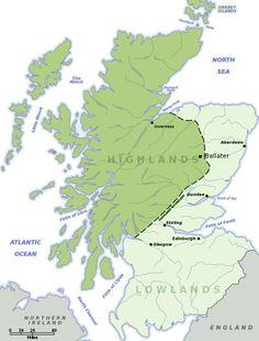 Scotland Lowlands and Highlands 1993 Glasgow, Edinburgh, Perth and Pitlochry Highlands Scotland, Scottish Highlands Map, Scotland Map, Scotland History, Scottish Gaelic, Glasgow, Edinburgh, Outlander, Aberdeen