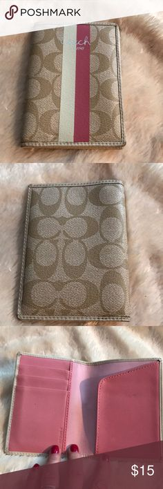 Authentic Coach Wallet Really cute Coach wallet, used once, I pristine condition! Coach Bags Wallets