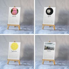 Decor for your Desk! 2016 Calendars by Designs of an Eclectique Heart.