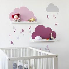 ikea-bilderleiste-mit-wandtattoo-wolken-pimpen-rosa-rosa-7