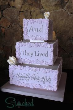 Happily Ever After by Stacked - http://cakesdecor.com/cakes/274476-happily-ever-after