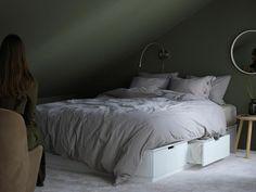"""Passend zur """"Nordli""""-Serie stellt Ikea ein Bettgestell mit Aufbewahrung vor."""