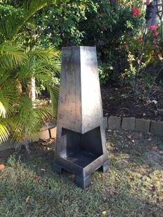 Corten Steel chimney style fire pit by CaveArtAustralia on Etsy
