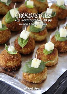 Une entrée ou des bouchées pour l'apéro: croquettes de pommes de terre au cumin