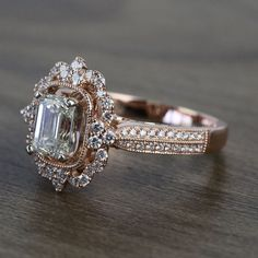 Dream Engagement Rings, Halo Diamond Engagement Ring, Diamond Wedding Rings, Vintage Engagement Rings, Vintage Rings, Antique Wedding Rings, Wedding Bands, Different Engagement Rings, Simple Elegant Engagement Rings