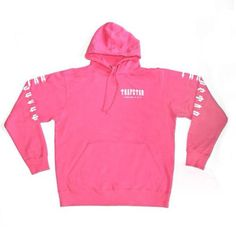 Trapstar pink Decoded hoodie as seen on Rihanna New Yorker Mode, Rihanna, Fashion Online, Hooded Jacket, Hoodies, Pink, Sweaters, Jackets, Clothes