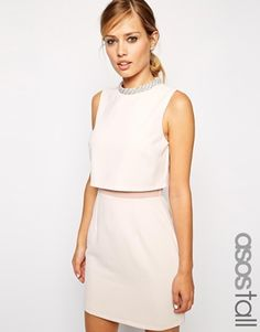 ASOS+TALL+Embellished+Stand+Collar+Dress. $66 and free shipping, but they only have size 8