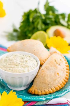 This Spicy Cilantro Lime Aioli is the perfect pairing for chicken empanadas, tortilla chips, and so much more. A blend of cilantro, jalapeños, lime, garlic, and spices make for an addictive dip!