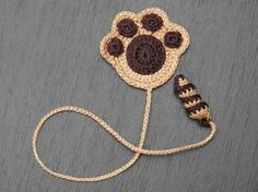 Paw of a puppy Crochet Bookmark Gift for children by ElenaGift