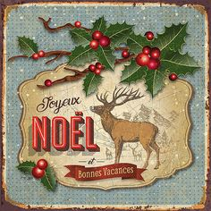French Christmas, Woodland Christmas, Noel Christmas, Victorian Christmas, Christmas Greetings, Images Vintage, Vintage Christmas Images, Christmas Pictures, Vintage Art