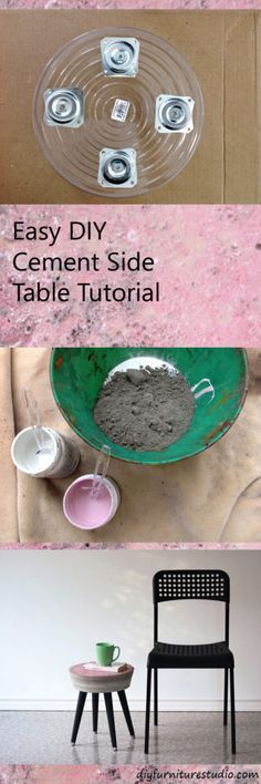 Cement Side Table. DIY. Tutorial.