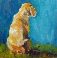 """Looking for New Tricks"" - Original Fine Art for Sale - © Sue Churchgrant"