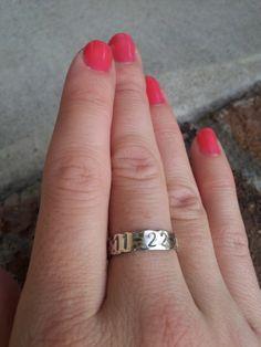 Anniversary Ring - Hand Stamped Custom Personalized Jewelry - Keepsake Gift. $24.00, via Etsy.