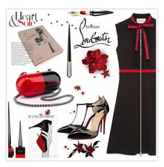"""""""♥ Louboutin Happy Pill! ♥"""" by nonniekiss ❤ liked on Polyvore featuring Gucci and Christian Louboutin"""