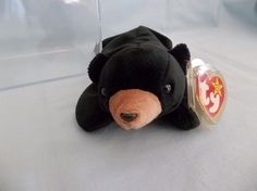 1993 Ty Beanie Babies Blackie Bear - Rare Retired #Ty Beenie Babies, Original Beanie Babies, Ty Beanie, Big Eyes, Beanies, Bear, Beanie Hats, Beanie, Bears