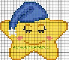 This Pin was discovered by Cro Kawaii Cross Stitch, Cross Stitch For Kids, Cross Stitch Baby, Cross Stitch Charts, Cross Stitch Designs, Baby Cross Stitch Patterns, Pixel Crochet, C2c Crochet, Crochet Chart