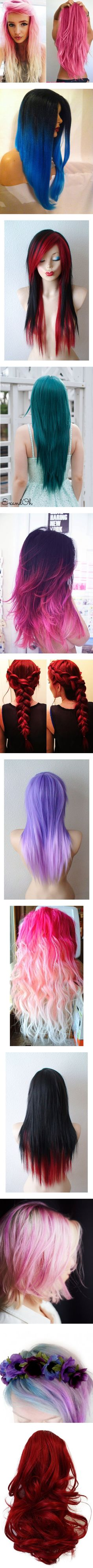 """""""Colored Hair 12"""" by meranda-wilkes ❤ liked on Polyvore"""