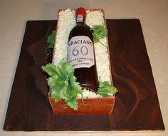 Wine Bottle Crate Cake (tutorial)
