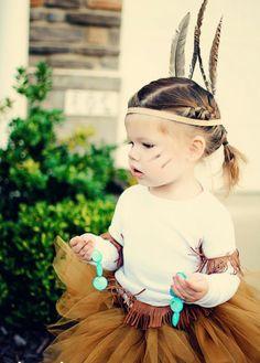 jolie costume de Pocahontas