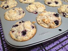 These easy blueberry muffins were a hit with my family! Moist and sweet....perfect summertime treat!  www.creativekitchenadventures.com