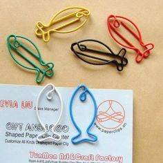 Fish paper clips