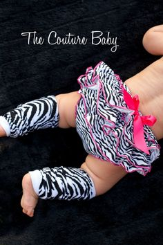 Zebra leg warmers to go with her birthday outfit? May just have to get the diaper cover too while I'm at it for another cute outfit? :) :)