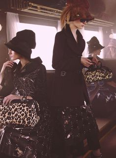 Louis Vuitton Fall 2012 Advertising Campaign by Steven Meisel, Featuring Julia Nobis, Marie Piovesan & Franzi Mueller