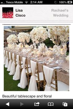 add some crystal beads on the tall flower arrangements
