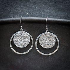 5930c6bb3 Sterling Silver Hammered Disc Earrings – Beyond Biasa Geometric Jewelry,  Hammered Silver, Crochet Earrings