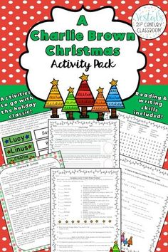 Charlie Brown Christmas Activities comes with 11 reading and writing activities that can be used with the Charlie Brown Christmas movie or book.  #vestals21stcenturyclassroom #charliebrownchristmas #charliebrownchristmasactivities #charliebrownchristmasactivitiesforkids