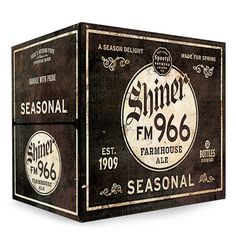 Shiner FM 966 Farmhouse Ale packaging, designed by McGarrah Jessee