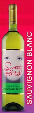 Sweet Bitch Sauvignon Blanc, $7.49 at Bayway World of Liquor. The nose is pretty, and sweet like candy or flowers--strawberry Now n Laters. This is an off-dry sauvignon blanc. Tasted at Our Favorite Wines tasting, 11/16/13