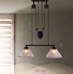 Industrial Style Pulley Lights
