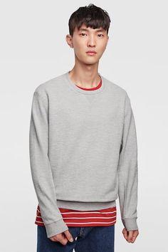 Jeon June BASIC SWEATSHIRT from Zara Men Sweater, Zara, Sweatshirts, Long Sleeve, Sleeves, Sweaters, Mens Tops, T Shirt, June
