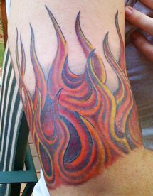 Fire and Flames Tattoo