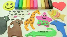 Learn Colors and Animals Play Doh Creative Fun with Modeling Clay Educat...
