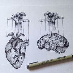 heart versus brain tattoo - Google zoeken More