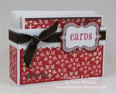 card box and card ideas. great idea, i can finally keep my cards in a storage thats cute, and i dont have to climb in my closet just to put away a card! cute!