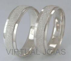 Alianças Compromisso Prata Diamantadas e Polidas  6mm 10g VJ2186