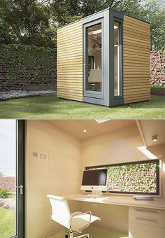 Creative backyard office. [ Wainscotingamerica.com ] #office #wainscoting #design / TechNews24h.com