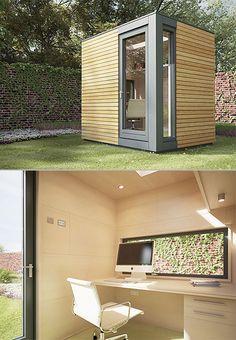 Creative backyard office. [ Wainscotingamerica.com ] #office #wainscoting #design / TechNews24h.com