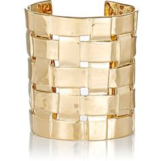 Aurélie Bidermann Women's Marella Cuff ($279) ❤ liked on Polyvore featuring jewelry, bracelets, no color, cuff bangle, aurelie bidermann jewelry, 18 karat gold jewelry, aurélie bidermann and cuff jewelry