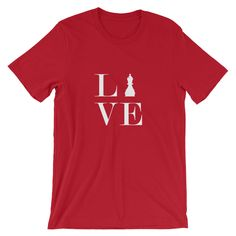 Short-Sleeve Unisex T-Shirt - Live Love Chess White Bishop T-Shirt #redsilo #original #art #etsy #gift