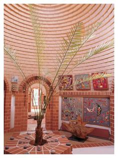 German earth house - coiled clay bricks