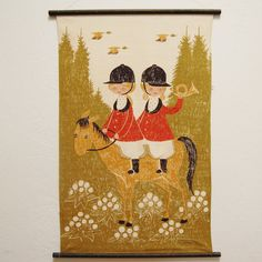 Vintage Danish 1960s Kids Wall Hanging by FeraliaVintage on Etsy