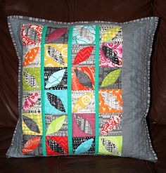look at this beautiful pillow by Sew Jewely- The Intrepid Thread, via Flickr