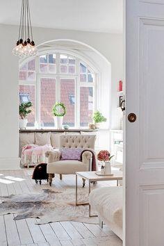 Стильная квартира в Швеции: Скандинавия и шебби-шик