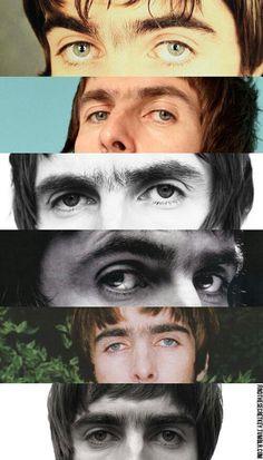 Liam's eyes + unibrow Gene Gallagher, Lennon Gallagher, Liam Gallagher Oasis, Oasis Band, El Rock And Roll, Beady Eye, Skins Uk, Damon Albarn, Britpop