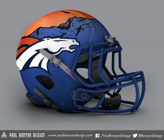 I don't like this style as a broncos helmet
