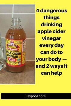 4 dangerous things drinking apple cider vinegar every day can do to your body — and 2 ways it can help Apple Cider Vinger, Braggs Apple Cider, Apple Cider Vinegar Benefits, Apple Cider Vinegar Detox, Apple Cidar, Weight Loss Drinks, Weight Loss Diet Plan, Weight Loss Smoothies, Lose Weight